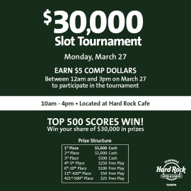 $30,000 Slot Tournament - Day 1