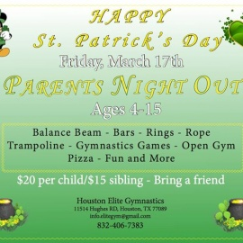 St. Patrick's Day Parents Night Out