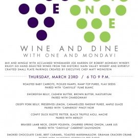 Wine and Dine with ONE Midtown Kitchen and Mondavi