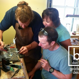 Couples Jewelry Making 1-Day Class, Private Silversmithing Workshop