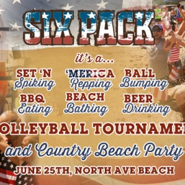 Six Pack Country Beach Party