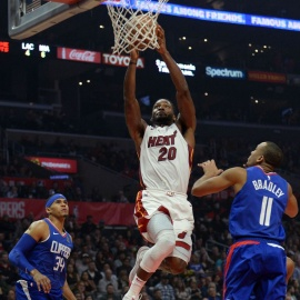 Shorthanded Heat rock Clippers, win 121-98239