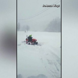 The Grinch was spotted plowing snow in Boone, N.C.57