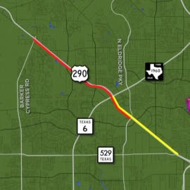 More lanes now open along US-290 as construction nears close112