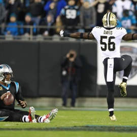 New Orelans' defense puts clamps on Newton in 12-9 win over Carolina Panthers43