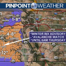 Snow continues in mountains with chance along Front Range on Friday244