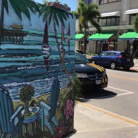 Artist Thom Millsap displays his painting prowess in Old Naples fundraiser Third on Canvas140