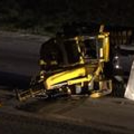 Big Rig Hits Overpass, Loses 2 Excavators on I-820 in FW119