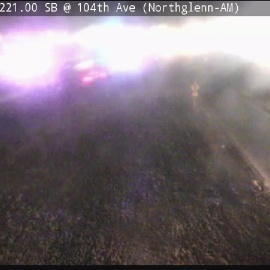 Thornton police officer vehicle hit by vehicle during traffic stop on I-25 off ramp244