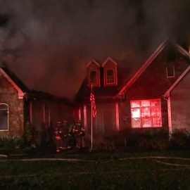 Firefighters battle raging fire at home in Durham34